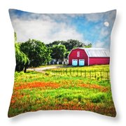 Spring Charm In The Hill Country Throw Pillow