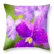 Spring Colors Throw Pillow