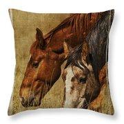 Spring Creek Basin Wild Horses Throw Pillow