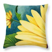 Spring Daisy Throw Pillow