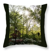 Spring Day In The Park Throw Pillow