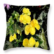 Spring Delight In Yellow Throw Pillow