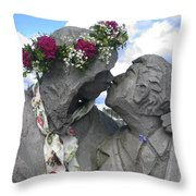 Spring Equinox Kiss Throw Pillow