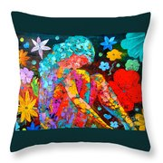 Spring Fantasy Throw Pillow