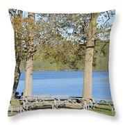 Spring Fed Shepherd Lake Throw Pillow