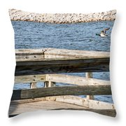 Spring Flight Throw Pillow