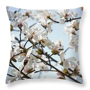 Spring Flora Throw Pillow