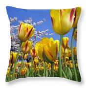 Spring Flowers 12 Throw Pillow
