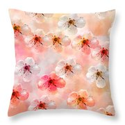 Spring Flowers Abstract 5 Throw Pillow