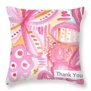 Spring Flowers Thank You Card Throw Pillow