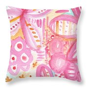 Spring Flowers- Watercolor Painting Throw Pillow