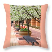 Spring Fragrance Throw Pillow