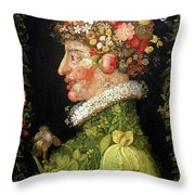 Spring, From A Series Depicting The Four Seasons Throw Pillow