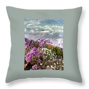 Spring Greets Waves Throw Pillow