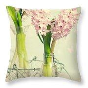 Spring Hyacinths Throw Pillow