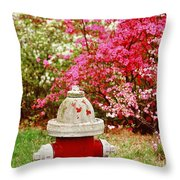 Spring Hydrant Throw Pillow