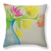Spring In A Vase Throw Pillow