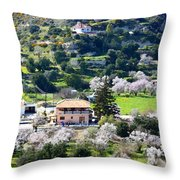 Spring In A Village  Throw Pillow