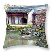 Spring In Dr. Sun Yat-sen Gardens Throw Pillow