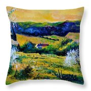 Spring In Matagne  Throw Pillow
