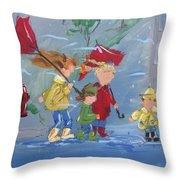 Spring In Our Step Throw Pillow