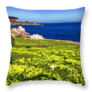 Spring In Pacific Grove Ca Throw Pillow
