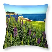 Spring In Pacific Grove Ca Two Throw Pillow