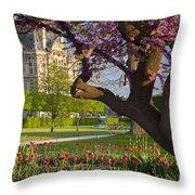 Spring In Paris Throw Pillow