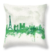Spring In Paris France Throw Pillow