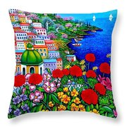 Spring In Positano Throw Pillow