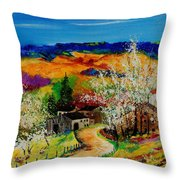 spring in Sechery Throw Pillow