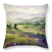 Mountain Spring Iv Throw Pillow