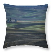 Spring In The Palouse Throw Pillow