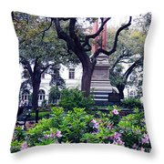 Spring In The Square Throw Pillow