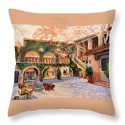 Spring In Tlaquepaque Throw Pillow