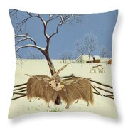Spring In Winter Throw Pillow