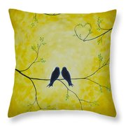 Spring Is A Time Of Love Throw Pillow