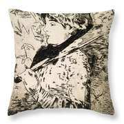 Spring   Jeanne Throw Pillow