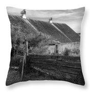 Spring Light - Black And White Throw Pillow