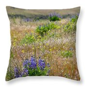 Spring Lupines And Cheatgrass Throw Pillow