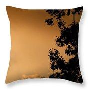 Spring Maple Silhouette Throw Pillow