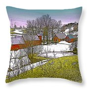 Spring Melt At Jenne Farm Throw Pillow