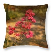 Spring Mignonette Flower Throw Pillow