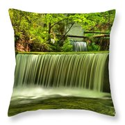 Spring Mill Spillway Throw Pillow