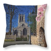 Spring Morning Brides Cottage Tickhill Yorkshire Throw Pillow