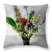 Spring Motley Throw Pillow