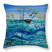 Spring On Lake Ontario Throw Pillow