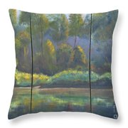 Spring On The Coosa  Throw Pillow