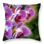 Spring Orchids I Throw Pillow