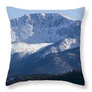 Spring Peak Throw Pillow